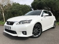 USED 2012 62 LEXUS CT 1.8 200H F SPORT 5d AUTO 136 BHP WHITE F SPORT WITH ONE OWNER AND FSH