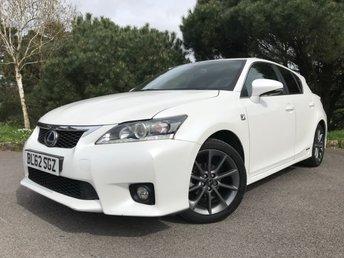 2012 LEXUS CT 1.8 200H F SPORT 5d AUTO 136 BHP £11590.00