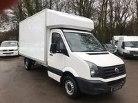 USED 2016 16 VOLKSWAGEN LT CRAFTER CR35 TDI LUTON  TAIL LIFT AIR CON Air Conditioning, Tail Lift