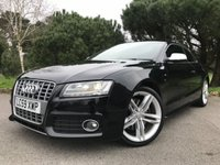 USED 2009 59 AUDI S5 4.2 S5 V8 QUATTRO 2d 354 BHP GREAT CONDITION LOCAL CAR WITH FSH IN BLACK WITH BEIGE SPORTS LEATHER