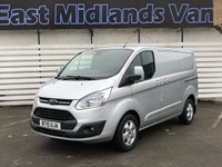 2015 FORD TRANSIT CUSTOM 2.2 270 LIMITED LR P/V 1d 125 BHP £11500.00