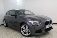 USED 2014 14 BMW 1 SERIES 2.0 125I M SPORT 3DR 215 BHP HEATED LEATHER SEATS + BLUETOOTH + CRUISE CONTROL + PARKING SENSOR + MULTI FUNCTION WHEEL + CLIMATE CONTROL + 18 INCH ALLOY WHEELS