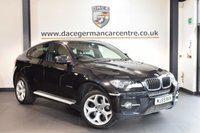 USED 2009 59 BMW X6 3.0 XDRIVE30D 4DR AUTO 232 BHP + FULL BLACK LEATHER INTERIOR + FULL SERVICE HISTORY + PRO SATELLITE NAVIGATION + BLUETOOTH + HEATED SPORT SEATS WITH MEMORY + XENON LIGHTS + REVERSE CAMERA + CRUISE CONTROL + RAIN SENSORS + PARKING SENSORS + 21 INCH ALLOY WHEELS +