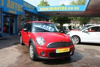 2010 MINI HATCH ONE 1.6 ONE D 3dr 90 BHP 6 SPD £3995.00
