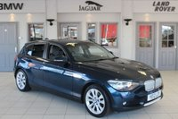 USED 2012 12 BMW 1 SERIES 2.0 118D URBAN 5d 141 BHP HALF BLACK LEATHER SEATS + FULL SERVICE HISTORY + £30 ROAD TAX +  REAR PARKING SENSORS + CRUISE CONTROL + 17 INCH ALLOYS + AIR CONDITIONING