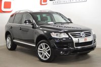 USED 2009 09 VOLKSWAGEN TOUAREG 2.5 ALTITUDE DPF 5d AUTO 172 BHP ONLY 38K FROM NEW!!! + SAT NAV + 2 KEYS + HISTORY + LEATHER