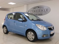 USED 2012 62 VAUXHALL AGILA 1.0 S ECOFLEX 5d 67 BHP £20 YEAR ROAD TAX, EXCELLENT OVERALL CONDITION