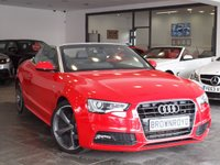 USED 2013 13 AUDI A5 CABRIOLET 2.0 TDI S LINE SPECIAL EDITION 2d AUTO 175 BHP SAT NAV+BANG-OLUFSEN+H-LTHR+