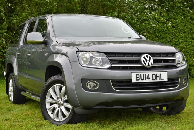 2014 14 VOLKSWAGEN AMAROK 2.0 TDI HIGHLINE 4MOTION DOUBLE CAB 4x4 AUTO 5 Seat Pickup with Canopy and Towbar