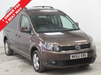 USED 2013 62 VOLKSWAGEN CADDY MAXI 1.6 C20 LIFE TDI 5d AUTO 101 BHP 5 Seats WAV 1 Owner, Full Service History, 5 Seater, WAV with Ramp and Electric Belt. Registered 4th February 2013, Parking Sensors, Bluetooth, Air Conditioning. 2 Keys. Free RAC Warranty and Free RAC Breakdown Cover. Nationwide Delivery Available.Finance Available at 9.9% APR Representative.