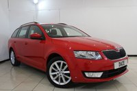 USED 2015 15 SKODA OCTAVIA 2.0 ELEGANCE TDI CR 5DR 148 BHP SERVICE HISTORY + HALF LEATHER SEATS + SAT NAVIGATION + BLUETOOTH + CRUISE CONTROL + MULTI FUNCTION WHEEL + CLIMATE CONTROL + 17 INCH ALLOY WHEELS