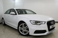 USED 2014 14 AUDI A6 S LINE 2.0 TDI 4DR 175 BHP SERVICE HISTORY + LEATHER SEATS + SAT NAVIGATION + PARKING SENSOR + BLUETOOTH + CRUISE CONTROL + MULTI FUNCTION WHEEL + CLIMATE CONTROL + 18 INCH ALLOY WHEELS