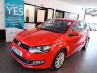 USED 2013 13 VOLKSWAGEN POLO 1.6 SEL TDI 5d 89 BHP This Polo is a rarer 1.6 5 door model, is to £30 tax and will average at least 60 mpg!! Its finished in Flash red with Black cloth seats. It is fitted with rear park assist, fogs, heated mirrors, cruise control, remote central locking, start stop technology, Alloys, air con, USB/ D A B radio, power steering, electric windows, Bluetooth, CD Stereo with Aux port and more. It has been privately owned from new, and comes with an excellent full VW service history including a new cambelt kit @ 64439 m