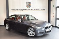 USED 2015 15 BMW 3 SERIES 2.0 320D M SPORT 4DR 181 BHP + FULL RED LEATHER INTERIOR + FULL BMW SERVICE HISTORY + SATELLITE NAVIGATION + BLUETOOTH + SPORT SEATS + LIGHT PACKAGE + CRUISE CONTROL + RAIN SENSORS + PARKING SENSORS + 18 INCH ALLOY WHEELS +