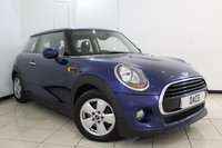 USED 2015 15 MINI HATCH COOPER 1.5 COOPER 3DR 134 BHP BLUETOOTH + AIR CONDITIONING + DAB RADIO/CD + AUXILIARY PORT + 15 INCH ALLOY WHEELS