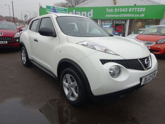 USED 2012 12 NISSAN JUKE 1.6 VISIA 5d 117 BHP ***£0 DEPOSIT FINANCE DEALS AVAILABLE***