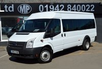 2013 FORD TRANSIT 2.2 430 SHR BUS 17 STR 5d 135 BHP LWB M/R MINIBUS £8795.00