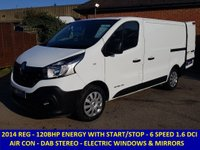 2014 RENAULT TRAFIC SL27 120BHP ENERGY BUSINESS WITH AIR CONDITIONING £9295.00