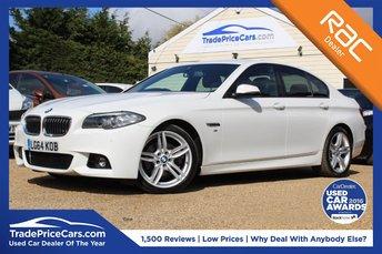 2014 BMW 5 SERIES 2.0 520D M SPORT 4d AUTO 188 BHP £17950.00