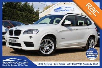 2012 BMW X3 2.0 XDRIVE20D M SPORT 5d AUTO 181 BHP £17950.00