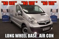 """USED 2014 63 VAUXHALL VIVARO 2.0 CDTI 2900 SPORTIVE """"NO VAT""""  Long wheel base, Air con, Bluetooth and Fully ply lined **Drive Away Today** Over The Phone Low Rate Finance Available, Just Call us on 01709 866668"""