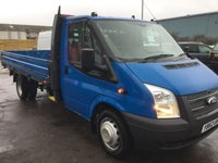 2013 FORD TRANSIT 2.2 350 DRW 1d 124 BHP 14ft DROPSIDE BODY £11999.00