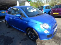 USED 2015 15 FIAT 500 0.9 TWINAIR S (SPORT) 3d 105 BHP 6 Speed Gearbox producing 105 BHP! Low Mileage, Full Fiat Service History + Just Serviced by ourselves, One Owner from new, Minimum 9 months MOT, Excellent fuel economy! ZERO Road Tax!