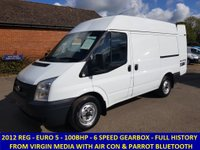 2012 FORD TRANSIT 280 SWB MEDIUM ROOF WITH AIR-CON FROM VIRGIN MEDIA £6495.00