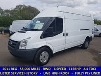 2011 FORD TRANSIT 350 115 BHP LWB HIGH ROOF WITH ONLY 55,000 MILES  £6995.00