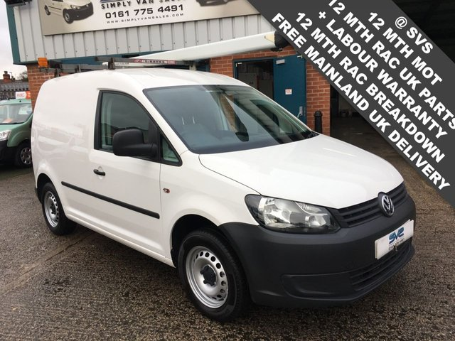 USED 2013 13 VOLKSWAGEN CADDY SWB 1.6TDI PLUS 1 OWNER *AIR CON* SERVICE HISTORY CLEAN