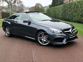 2015 MERCEDES-BENZ E CLASS 2.1 E220 BLUETEC AMG LINE 2d AUTO 174 BHP CHERISHED EXAMPLE-MEGA SPEC-LOW MILES FULL DEALER SERVICE+PANORAMIC ROOF+UNDER WARRANTY  BEST FIANCE RATES AVAILABLE ENQUIRE TODAY  £19995.00