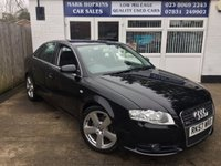 USED 2007 57 AUDI A4 2.0 S LINE 4d 129 BHP 44K FSH ONE FAMILY OWNER DUAL CLIMATE EXCELLENT CONDITION