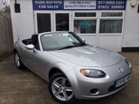 USED 2006 56 MAZDA MX-5 2.0 I 2d 160 BHP .    EXTREMELY LOW MILEAGE 26K FSH.  EXCELLENT CONDITION THROUGHOUT