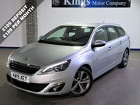USED 2015 15 PEUGEOT 308 2.0 BLUE HDI S/S SW ALLURE 5dr AUTO Sat Nav, Parking Camera, £30 Tax , Ave 67 MPG, HUGE SPEC !!