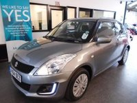 USED 2014 64 SUZUKI SWIFT 1.2 SZ2 3d 94 BHP This One private lady owner Swift is finished in Galactic Grey Metallic with black cloth seats, will average 50 MPG & is only £30 per year to tax! Its fitted with power steering, ABS, electric windows and mirrrors,  LED daylights, USB For MP3 and is a 3 Door Model! Its been serviced by Suzuki @ 2660/5635/8844 miles!! It will be supplied with 12 months MOT (existing is September 2018), a service and 6 months warranty - This Swift is virtually unmarked, nothing requires body shop attention at all.