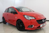 USED 2015 15 VAUXHALL CORSA 1.4 LIMITED EDITION 3DR 89 BHP FULL SERVICE HISTORY + BLUETOOTH + CRUISE CONTROL + MULTI FUNCTION WHEEL + AUXILIARY PORT + AIR CONDITIONING + 17 INCH ALLOY WHEELS