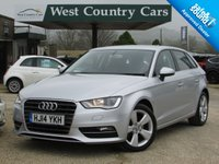 USED 2014 14 AUDI A3 2.0 TDI SPORT 5d AUTO 148 BHP Only 1 Owner From New