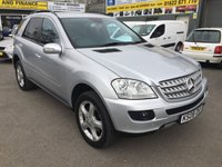 2008 MERCEDES-BENZ M CLASS 3.0 ML320 CDI SPORT 5 DOOR AUTOMATIC 222 BHP IN SILVER WITH FULL SERVICE HISTORY £9290.00