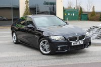 USED 2013 63 BMW 5 SERIES 520D M SPORT 2.0 4d AUTO ONLY 56K - NAV - DAB - LEATHER