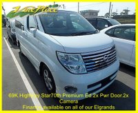 2005 NISSAN ELGRAND 70th Highway Star Premium Edition 2.5 Auto 8 seats, 2 Power Doors, Front and Rear Camera  £7500.00