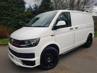 "2016 VOLKSWAGEN TRANSPORTER 2.0 T28 TDI BMT 102 BHP AIR CON CARPETED  SPORTLINE STYLING KIT 20"" ALLOYS £17250.00"