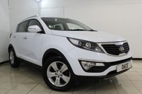 USED 2013 63 KIA SPORTAGE 1.7 CRDI 2 5DR 114 BHP FULL SERVICE HISTORY + HALF LEATHER SEATS + BLUETOOTH + CRUISE CONTROL + MULTI FUNCTION WHEEL + AUXILIARY PORT + 17 INCH ALLOY WHEELS