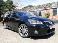 2013 LEXUS CT 1.8 200H ADVANCE 5d 136 BHP £11775.00