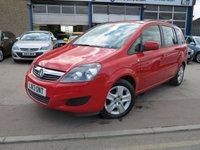 2013 VAUXHALL ZAFIRA 1.6 EXCLUSIV 5d 113 BHP £SOLD
