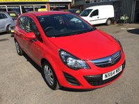 2014 VAUXHALL CORSA 1.4 DESIGN AC 5 DOOR 98 BHP IN BRIGHT RED IN IMMACULATE CONDITION £4890.00