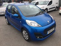 USED 2013 13 PEUGEOT 107 1.0 ACTIVE 5 DOOR 68 BHP IN METALLIC BLUE WITH ONLY 29000 MILES. APPROVED CARS ARE PLEASED OFFER THIS PEUGEOT 107 1.0 ACTIVE 5 DOOR 68 BHP IN METALLIC BLUE WITH ONLY 29000 MILES IN GREAT CONDITION INSIDE AND OUT A GREAT FIRST CAR WITH SUPER LOW MILEAGE.