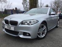 USED 2013 63 BMW 5 SERIES 2.0 520D M SPORT 4d AUTO 181BHP 2KEYS+SPORT KIT+LEATHER+SATNAV