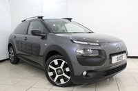 USED 2015 15 CITROEN C4 CACTUS 1.6 BLUEHDI FLAIR 5DR 98 BHP SAT NAVIGATION + BLUETOOTH + CRUISE CONTROL + MULTI FUNCTION WHEEL + CLIMATE CONTROL + RADIO/CD + 17 INCH ALLOY WHEELS