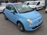 2015 FIAT 500 1.2 LOUNGE DUALOGIC 3 DOOR AUTO 69 BHP IN CHINA BLUE WITH 28000 MILES £7990.00