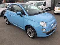 2014 FIAT 500 1.2 LOUNGE 3 DOOR 69 BHP IN CHINA BLUE WITH ONLY 20000 MILES £6490.00